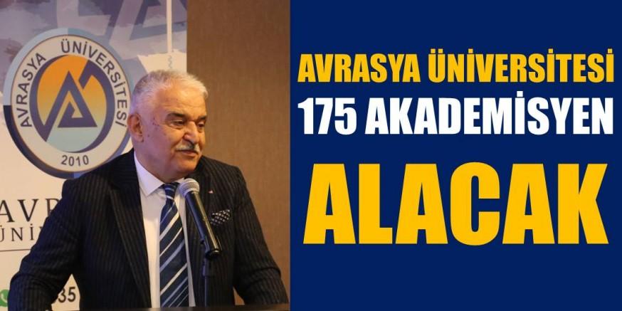 AVRASYA ÜNİVERSİTESİ 175 AKADEMİSYEN ALACAK