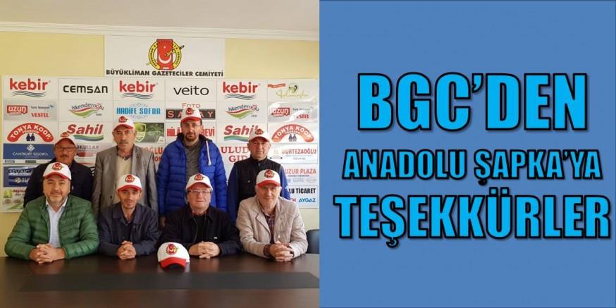 BGC'den Anadolu Şapka'ya teşekkür