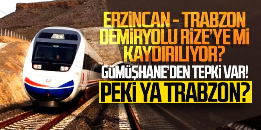 Erzincan- Trabzon Demiryolu Rize'ye Kaydırılıyor