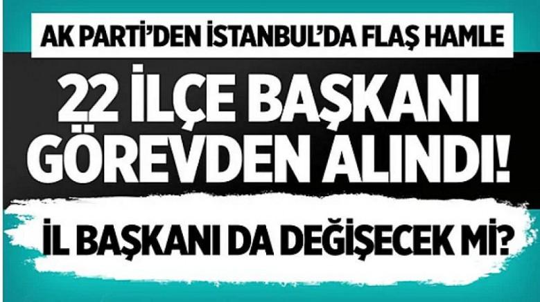 İşte İstanbul'da Görevden Alınan 22 İlçe Başkanı