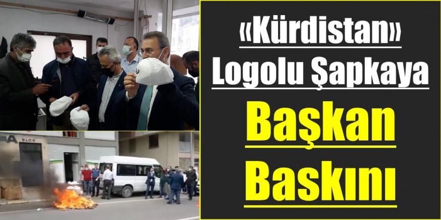 Kürdistan Logolu Şapkaya Başkan Baskını