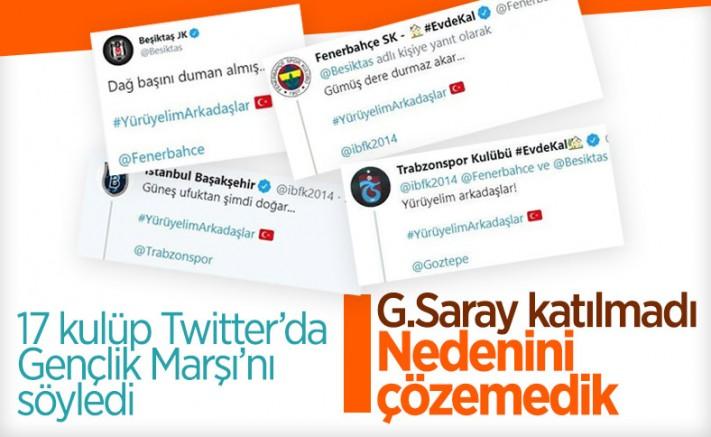 Süper Lig'den 17 Takım Gençlik Marşı'nı Söyledi