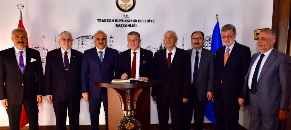 TBMM Eski Başkanı Toptan, Trabzon'da
