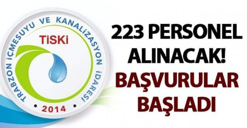 TİSKİ'YE 223 PERSONEL ALINACAK, BAŞVURULAR BAŞLADI