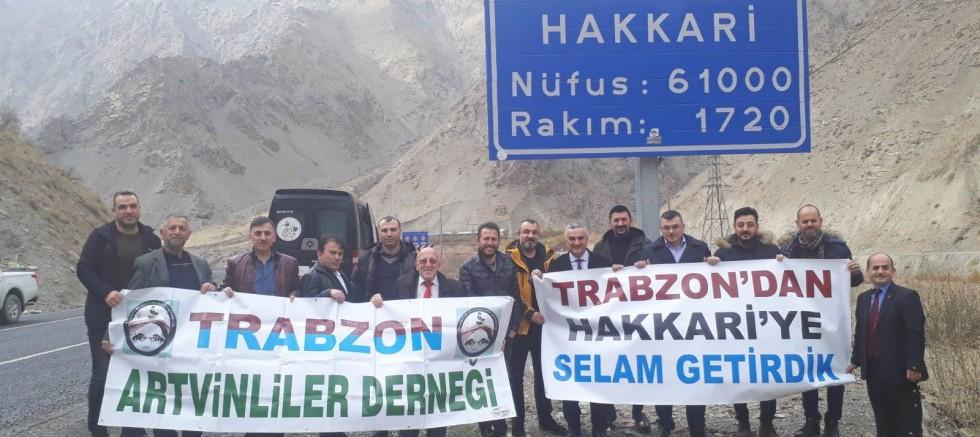 Trabzon'dan Hakkari'ye selam götürdüler